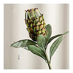 JiaQinHe Remains Large Artificial Protea Cynaroides Silk+Plastic Flowers for Wedding Decorations Wreath Fake Plants Flores Artificiales Never