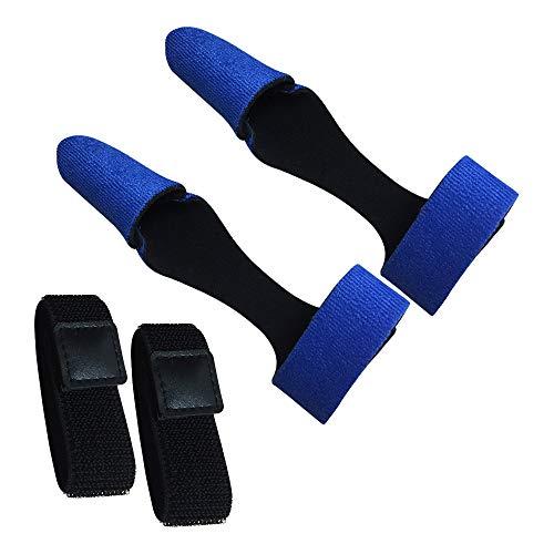AZXAZ Angelrutenhülle 2 Pack Angelrute Ärmel Mütze Erweiterbarer Angelrutenschutz Mit Rod Ties Belt (Blau)
