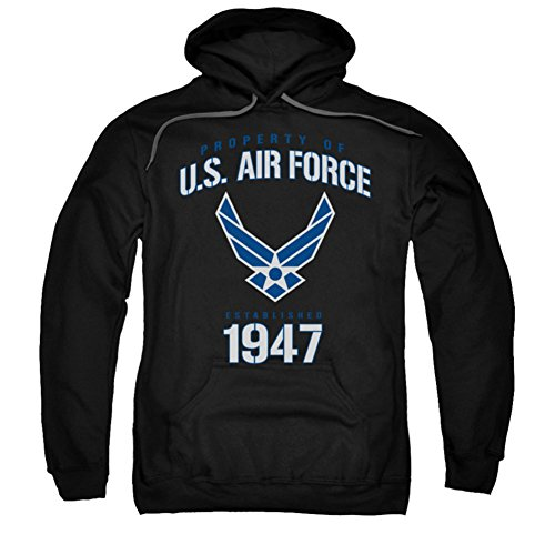 Air Force - - Propriété de Men Of Hoodie, Medium, Black
