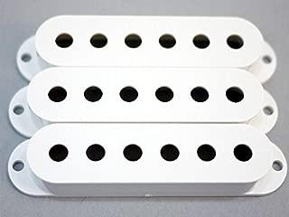 MIJ Single Pickup Covers Set for Stratocaster White fa-stpuc3-wht