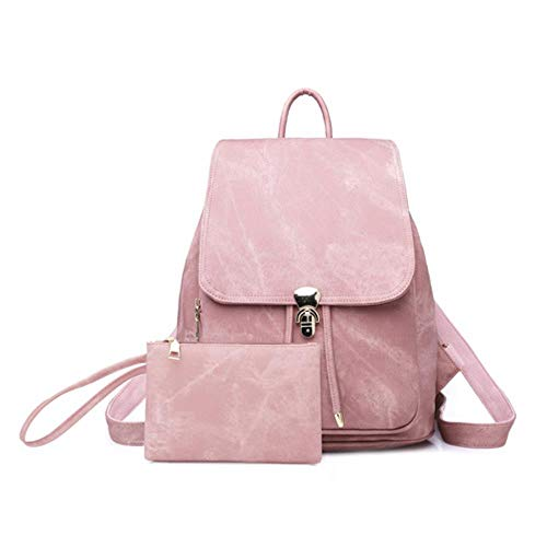 Ksde Leren damesrugzak, schooltassen voor meisjes, tieners, rugzak, lady, reisrugzak, met portemonnee