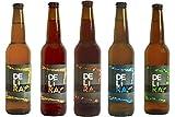 Birra Artigianale Cruda Italiana DELìRA - FIVE MIX - Lager Bionda + Lager Rossa + Weiss + I.P.A. + A.P.A. - Confezione mix da 10 Bottiglie 50cl - Prodotta da I.C.B. Italian Craft Brewery