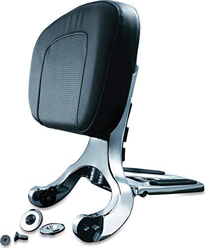 Kuryakyn 1660 Multi-Purpose Driver/Passenger Seat Backrest with Folding Luggage Rack System or Harley-Davidson and Indian Motorcycles, Chrome
