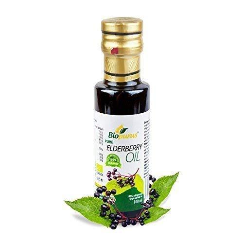 Zertifiziertes Bio Kaltgepresst Holunder Samenöl 100ml Biopurus