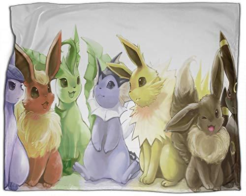 SSKJTC Manta de viaje Pokemon varios elfos lindos colección de arte serie de sofá cama tumbonas tumbonas lectura reclinable 130 x 180 cm