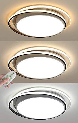 CSD De techo moderna Lámparas luces LED de 66W regulable con control remoto redondo blanco anillo del diseño de la lámpara de techo for el dormitorio