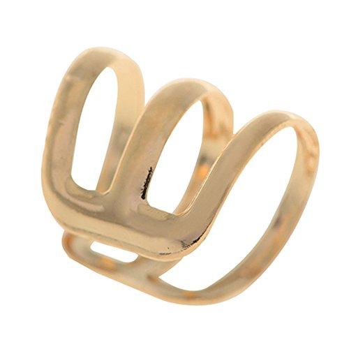 Sanwood Punk Rock Ear Clip Cuff Wrap Earrings Clip On (Golden)