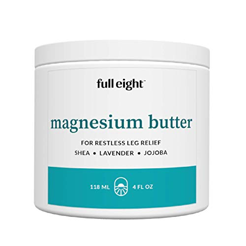 Restless Leg Syndrome Relief Magnesium Cream - Fast Absorbing and Natural Relief for RLS, Sore Muscles, Agitated Legs - Rest Better and Wake Refreshed (Travel Use - 4 oz.)