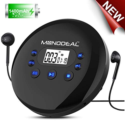 MONODEAL Tragbar CD-Player, Pers...