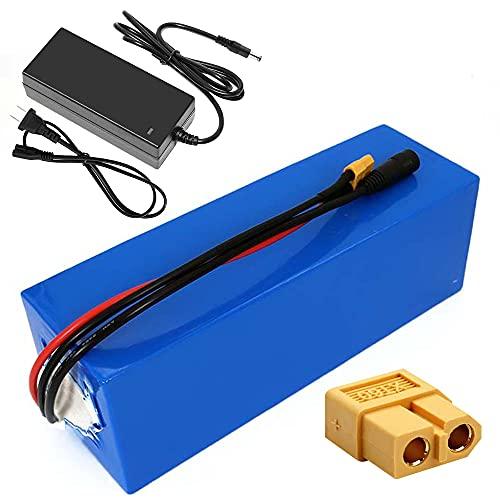 TGHY Batteria al Litio 36V 15Ah per Bicicletta Elettrica Pacco Batteria agli Ioni di Litio 10S3P 21700 per Motore da 800W per Sedia a Rotelle Elettrica con BMS e Caricabatterie 42V 2A,XT60