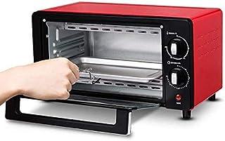 Mini Horno Parrilla eléctrica y parrilla, Negro mini horno y grill, horno multifunción, mini horno, a 60 minutos del temporizador, de 10 litros de capacidad, control de temperatura, Negro, Rojo hsvbkw