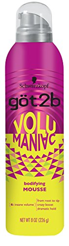 Price comparison product image Got2b Volumaniac Hair Mousse,  8 Ounce