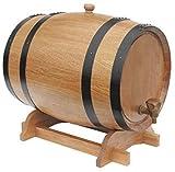 JLDN 10L Barril de Vino, Barril de Madera de Roble Envejecimiento Barril con Grifo con Filtro Kit elaboración del Vino sin Fugas for su Almacenamiento o envejecimiento del Vino,A