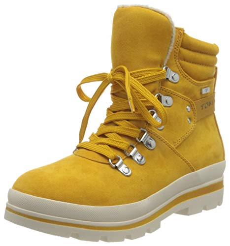 Tom Tailor Womens 9090704 Snow Boot Bootie Boot, Yellow, 5.5 UK