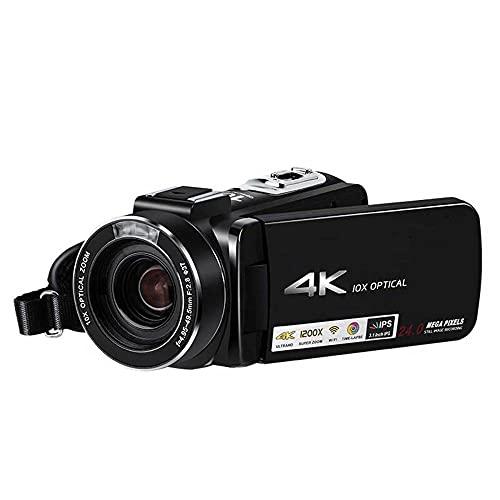 Video 4K Cámara de videocámaras para Videos de Youtube, cámara Full HD 1080P 30MP Vlogging Cámara para Youtube 10x Digital Zoom 3.0'LCD 270 Grados Cámaras de Pantalla