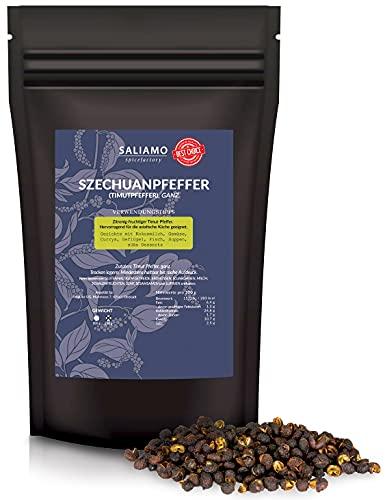 Saliamo Szechuan Pfeffer - Timutpfeffer - Pfeffer ganz - schwarze Pfefferkörner - Grapefruit Pfeffer - aus Nepal - Wildsammlung - 250 g Packung