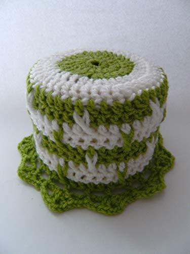 Storchenlädchen Klohut, grün weiß Klohüte Klopapierhut Klopapierhüte Toilettenpapierhut Toilettenpapierhüte