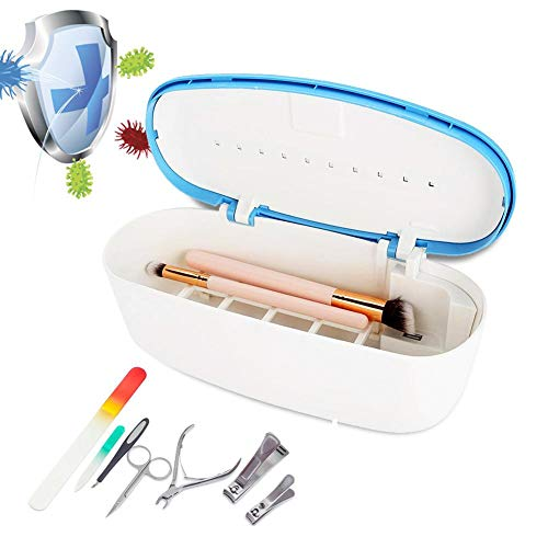 Caja de esterilizador, UV LED Nail Art Máquina desinfectante Manicura Metal Plástico Herramientas Caja de esterilizador, CE aprobado