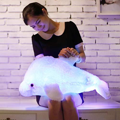 Zinsale 7 Cambio de Color LED aclarar Juguete de delfín Relleno Almohada de Felpa Luz de Noche...