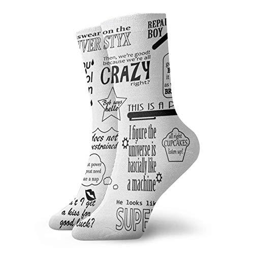 Kay Sam Calcetines de algodón unisex con frases de Heroes Of Olympus, calcetines personalizados, medias deportivas deportivas, calcetines para hombres y mujeres
