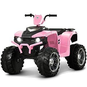 Uenjoy 12V Kids Electric 4-Wheeler ATV Quad Ride