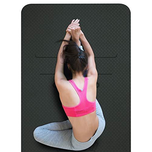 SKL - Esterilla de yoga, color verde