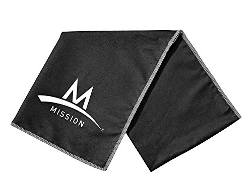 Mission Enduracool Microfiber Cooling Towel, Black, Large