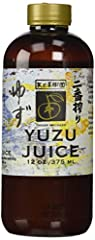100 % Pure Japanese Yuzu Juice Use in cocktails or non-alcoholic beverages Creates exotic flavors for Vinaigrettes, Sashimi, Ceviche, Meats or Vegetables From Japan's Miyazaki Prefecture 12 oz. bottle