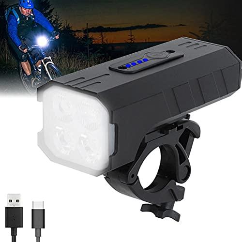 Fencelly Faro de bicicleta, LED impermeable al aire libre Ciclismo USB recargable luces de bicicleta 7 modo de luz luces de ciclo lámparas