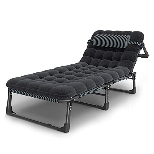 Iyom XL 193x68cm klappbarer Zero Gravity Lounge Chair Breiter Liegestuhl mit gepolsterter Verstellbarer Kopfstütze, Unterstützung bis zu 180 kg, für Lounge Outdoor Patio Camping Beach