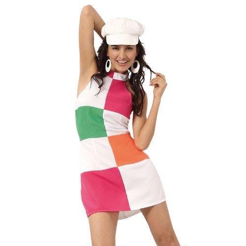 GOGO GIRL DEBRA Faschingskostüm Kostüm Gr. M 40/42 Sommerkleid 70er Hippie Schlager Schlagermove sexy Boland 87167