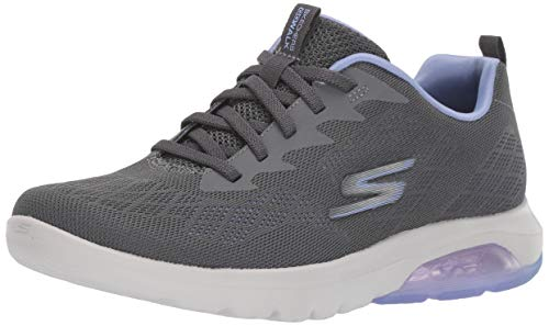Skechers Women's GO Walk AIR - 16098 Shoe, Charcoal/Lavender, 9 M US