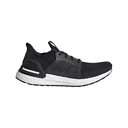 adidas Men's Ultraboost 19 Running Shoe, Black/White, 13 M US