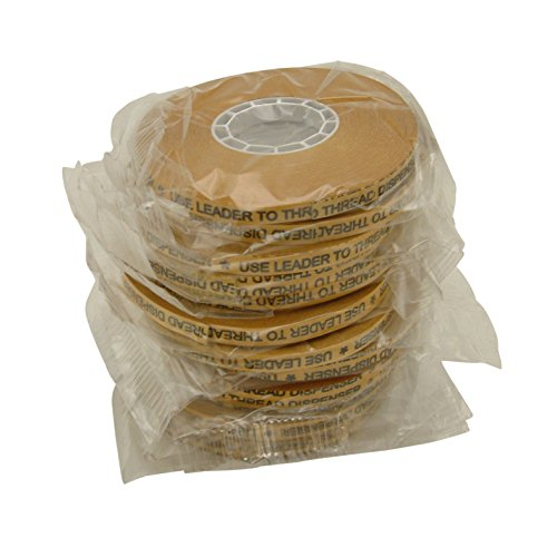 JVCC ATG-7502 ATG Tape: 1/4 in x 36 yds. (Clear Adhesive on Gold Liner) / core for 1/4 inch pink glider [12 pack]