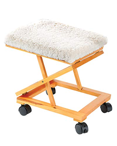 folding foot rests Rolling Adjustable Fold-A-Way Fleece Cushion Foot Rest
