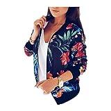 Europa estilo moda verano chaqueta mujer flor impresión delgada bombardero chaqueta