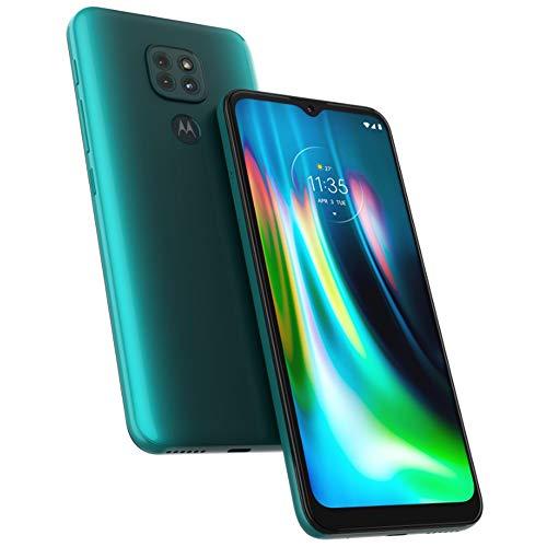 Motorola Moto G9 Play (64GB, 4GB RAM) 6.5 5000mAh Dual SIM GSM Unlocked Global 4G LTE (T-Mobile, AT&T, Metro) XT2083-1 (64GB SD Bundle, Blue)