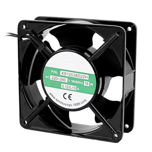 sourcingmap® AC 220V-240V 0.12-0.13A 120mmx120mmx38mm 5 paletas de ventilador del radiador de refrigeración del rodamiento de bolas