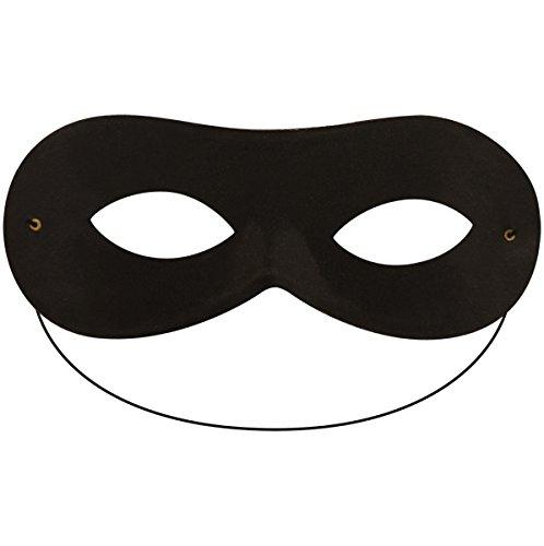 Ghurazi Trade Limited schwarz Zorro Highwayman Bandit Augen Maske Damen Herren Unisex Domino Maskerade Kostüm Zubehör
