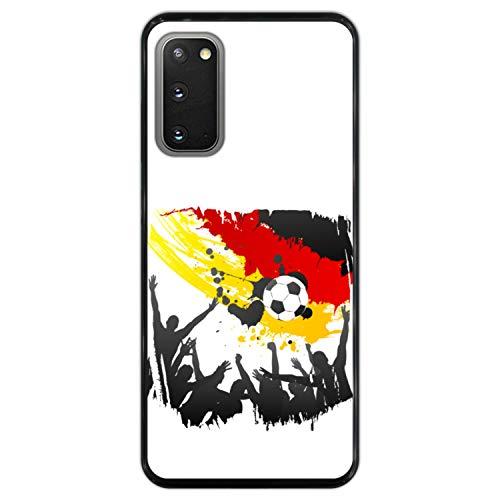 Telefoonhoesje voor [ Samsung Galaxy S20 - S20 5G ] tekening [ Vlag van Duitsland ] Zwart TPU flexibele siliconen schaal