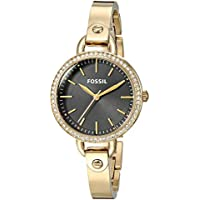 Fossil Women's Classic Minute 32mm Black Dial Stainless Steel Watch