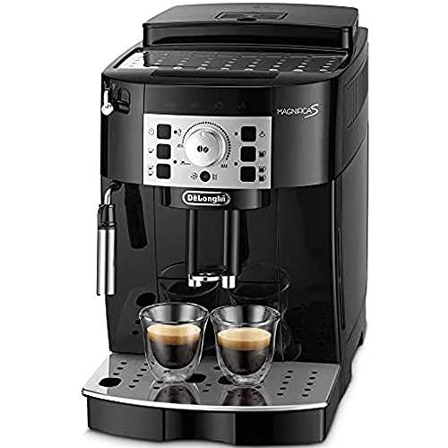 【エントリーモデル】デロンギ(DeLonghi) 全自動コーヒーメーカー マグニフィカS ミルク泡立て:手動 ブラッ...