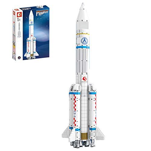 Oeasy Rakete Bausteine Bausatz, 1202 Klemmbausteine Raumfähre Luftschiff Modell, Kompatibel mit Lego