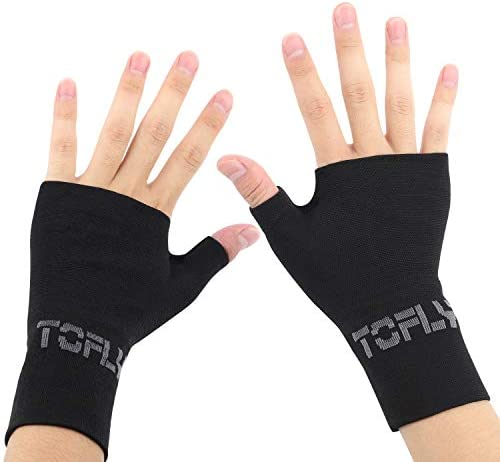 TOFLY Wrist Thumb Support Sleeve 1 Pair Compression Arthritis Gloves for Unisex Ideal for Carpal product image