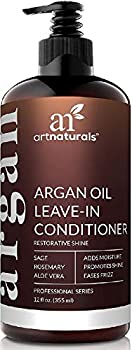 artnaturals Argan Oil Leave-In Conditioner -  12 Fl Oz / 355ml  - Made with Organic and Natural Ingredients - for All Hair Types – Treatment for Damaged Dry Color Treated and Hair Loss