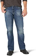 Wrangler Authentics Men's Relaxed Fit Boot Cut Jean, Medium Indigo 36x30