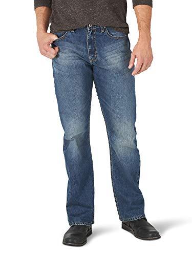 Wrangler Authentics Men's Relaxed Fit Boot Cut Jean, Medium Indigo 34x30