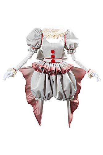 Fortunezone Pennywise Cosplay Kostüm Pennywise The Clown Kostüm Outfit Halloween Karnival weiblich Kostüm M
