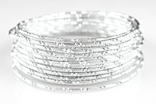 Creacraft Aluminium-Effektdraht 5m Rolle - Schmuckdraht und Basteldraht (Lederstruktur mit Diamant-Effekt, Silber)