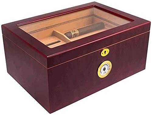 LIUYULONG humidor de Puros Box de cigarro-25-50 Cigarro de Escritorio humidor Caoba Acabado